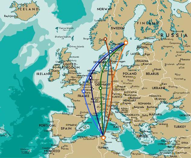 flygrutter karta A Scandinavian resort between golf and the mediterranean sea in  flygrutter karta